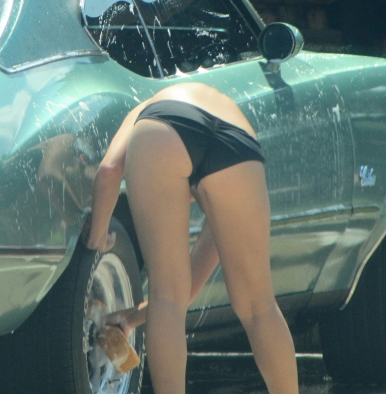 Car wash upskirt