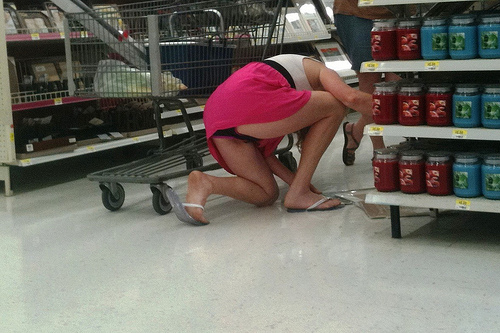 Voyeur upskirt at walmart and