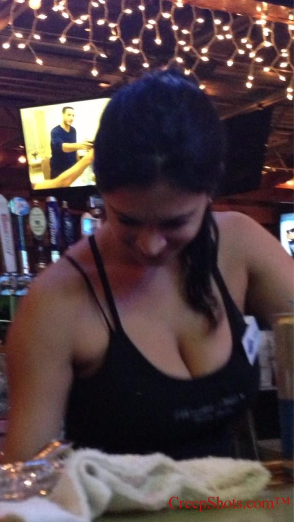bartender cleavage