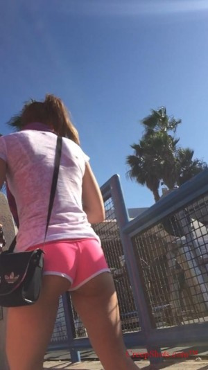 booty in pink shorts