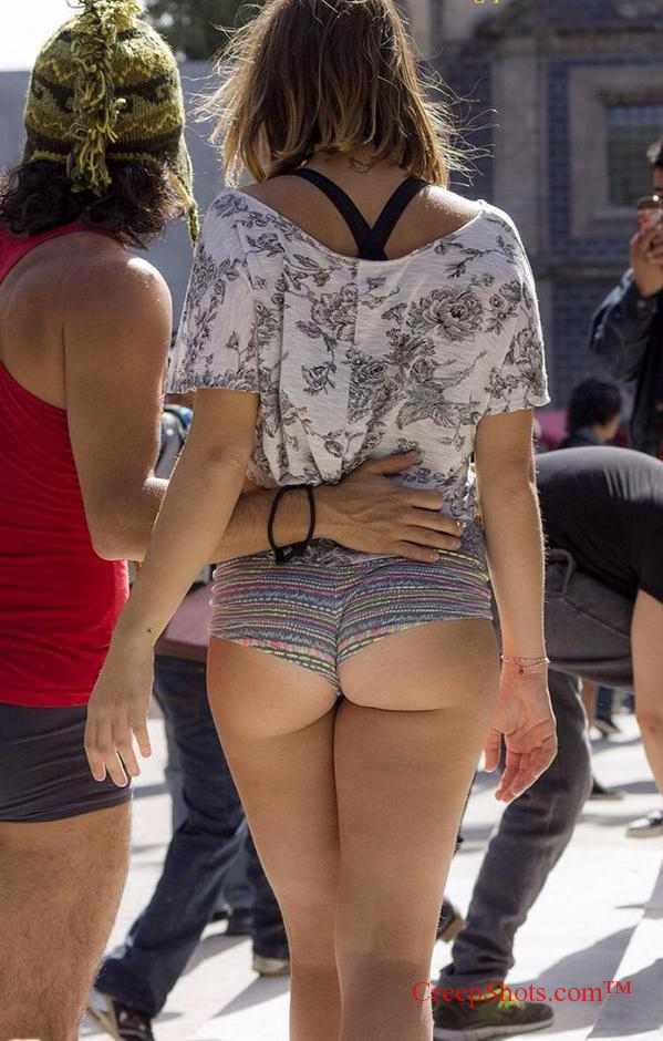 Shes keeper! tight tiny shorts ass cheeks butt like holly