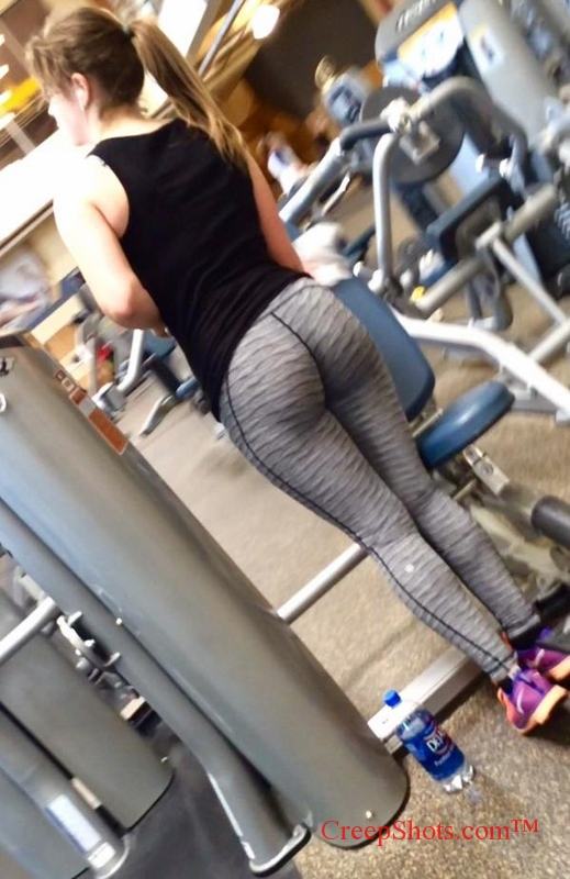 creepshot of a thick gym booty